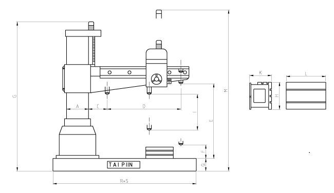 Tpr 720a  820  920a Radial Arm Drill  U2013 Eastern Tool Incorporated
